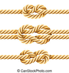 Vector illustration of rope knots