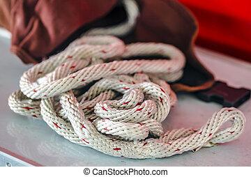 Rope lifeline - Big rope lifeline in detail - Fire...