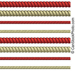 Rope line - set of line rope. realistic vector eps10