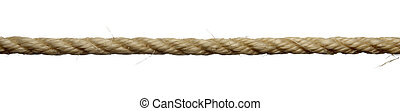 rope line - close up of single rope line on white background...