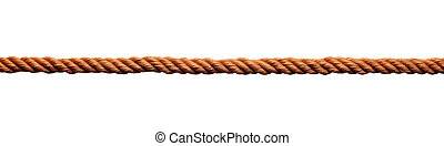 rope link cord string cable - close up of rope part on white...
