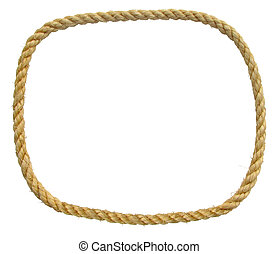 isolated endless loop of rope making a border