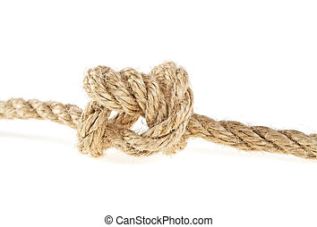 Rope on a white background, knot