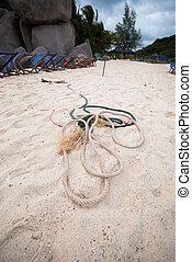 Rope on beach