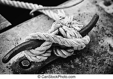 Rope on cleat