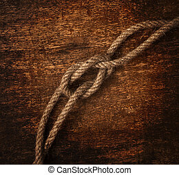 rope on dirty background