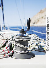 Rope on sailboat