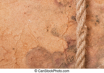 rope on the background of old paper