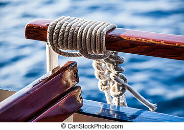 rope on the boat