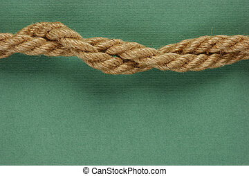 Rope on the green background