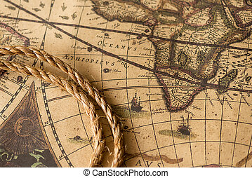 Rope on the old map