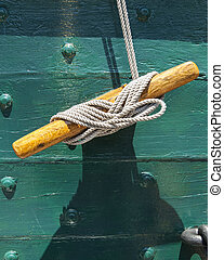 Rope on the USS Constitution