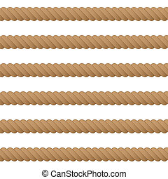 Rope seamless background