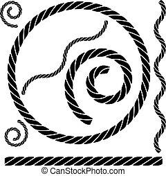 rope set isolated on a white background image.