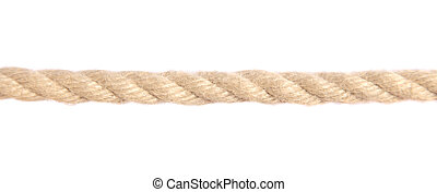 Rope - Standard hemp rope. All on white background.
