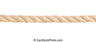Rope - Standard hemp rope. All on white background.