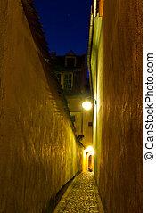 Rope Street, Brasov, Romania - night view