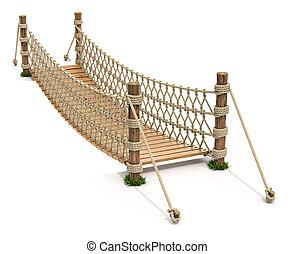 Rope suspension bridge