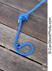Rope tied in a knot.