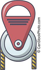 Rope tool icon, cartoon style