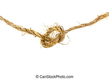 rope twine knot on a white background