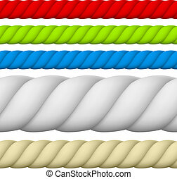 Rope - Illustration of Different size and color Rope.