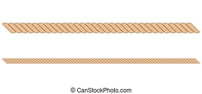 Rope vector illustration isolated on white background