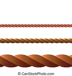 rope vector against white background, abstract art...