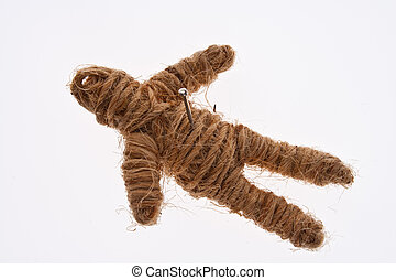 Rope Voodoo Doll with Nail on Chest
