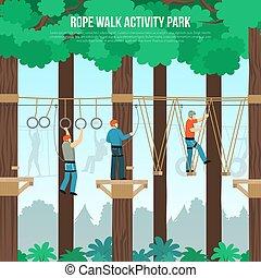 Rope Walk Park Flat Poster