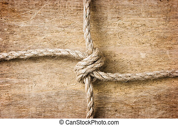 Rope with knots