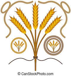 Roped Wheat Set