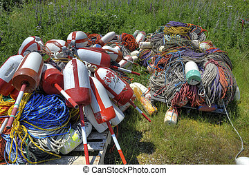 Ropes and Lobster Buoys