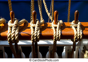 Ropes at a tall ship