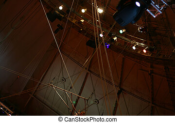 ropes in circus for life risk man
