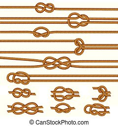 Ropes Knots Realistic Set