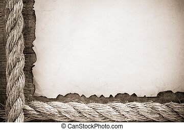 ropes on old vintage ancient paper