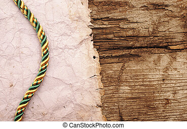 ropes on old vintage ancient paper background texture