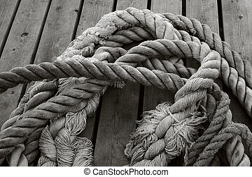 ropes on the pontoon