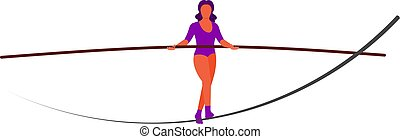ropewalker, illustrazione, figura, tightrope-dancer., artist...