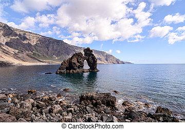 Roque de Bonanza beach in El Hierro