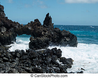 Roque de Bonanza beach in El Hierro