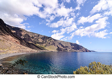 Roque de Bonanza beach in El Hierro Canary islands Spain