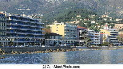 Roquebrune-Cap-Martin Resort Town Skyline From The...