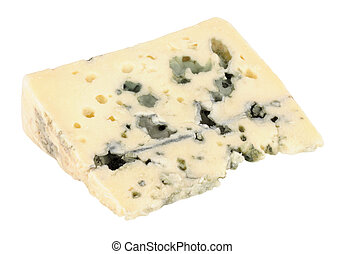Roquefort Cheese Wedge - Traditional French Roquefort cheese...