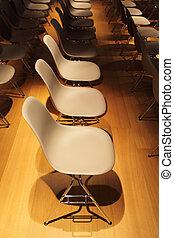 ror, golv, stol, gul, plastisk, chromium-plated, vit, ben