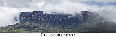 Roraima Tepui or table mountain in Canaima - Mount Roraima ...