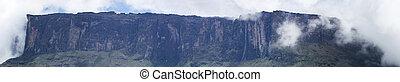 Roraima Tepui or table mountain in Canaima, Venezuela - Full...