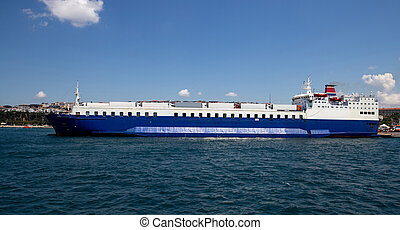 roro, bateau, port