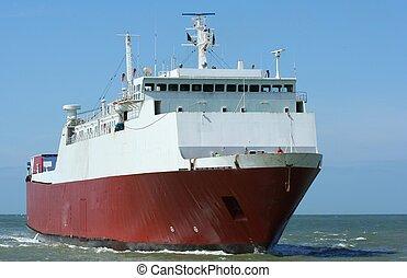 Ro/Ro Ferry - A ro/ro Ferry at sea